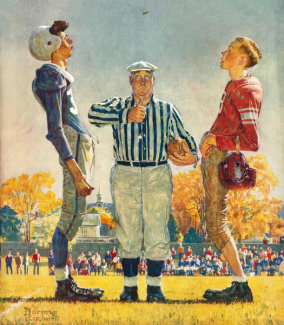 Norman Rockwell - Coin Toss
