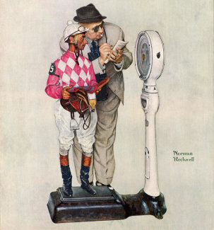 Norman Rockwell - Jockey Weighing In