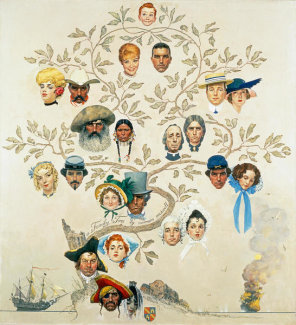 Norman Rockwell - Family Tree