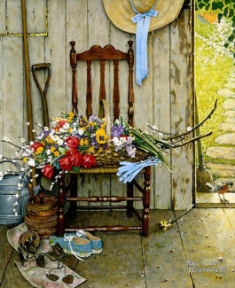 Norman Rockwell - Spring Flowers