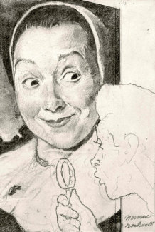 Norman Rockwell - Art Critic - Study No. 1
