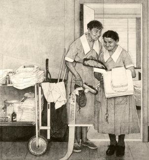 Norman Rockwell - Just Married (Drawing)
