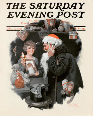 Norman Rockwell - Playing Santa, 1916