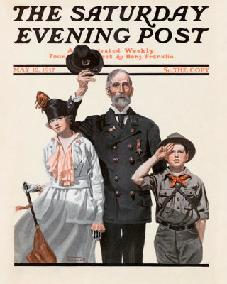 Norman Rockwell - Ready to Serve, 1917