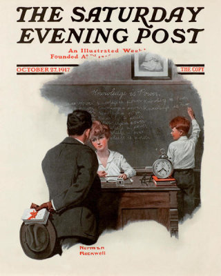 Norman Rockwell - Knowledge is Power, 1917