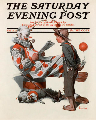 Norman Rockwell - Meeting the Clown, 1918