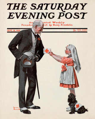 Norman Rockwell - Giving to the Red Cross, 1918