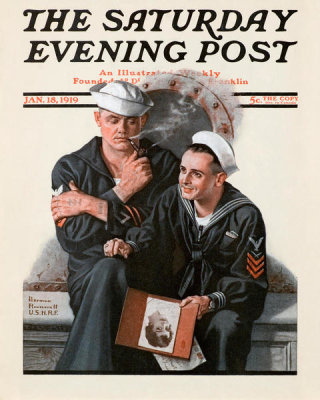Norman Rockwell - Thinking of the Girl Back Home, 1919