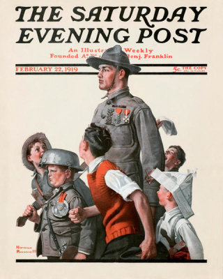 Norman Rockwell - Hero's Welcome, 1919