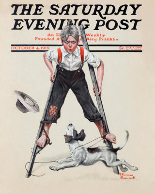 Norman Rockwell - Boy on Stilts