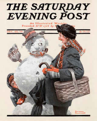 Norman Rockwell - Gramps and the Snowman