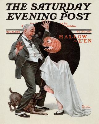 norman rockwell halloween