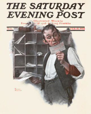 Norman Rockwell - Sorting Mail, 1922