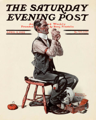 Norman Rockwell - Threading the Needle