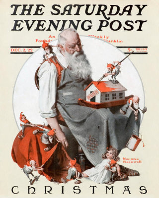 Norman Rockwell - Santa and his Elves, 1922