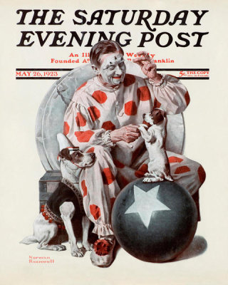 Norman Rockwell - Clown (Circus Clown and Dog)