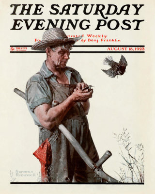 Norman Rockwell - Farmer and the Bird