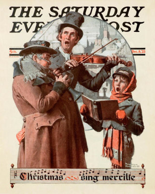Norman Rockwell - Christmas Trio, 1923