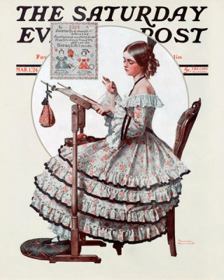 Norman Rockwell - Needlepoint