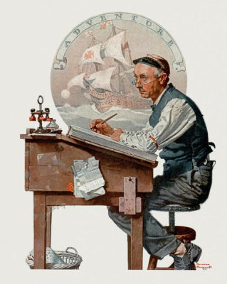 Norman Rockwell - CPA (Daydreaming Bookkeeper)