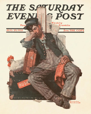 Norman Rockwell - Asleep on the Job, 1925