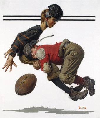Norman Rockwell - Tackled, 1925
