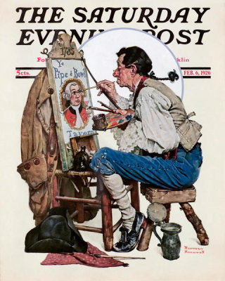 Norman Rockwell - Colonial Sign Painter, 1926