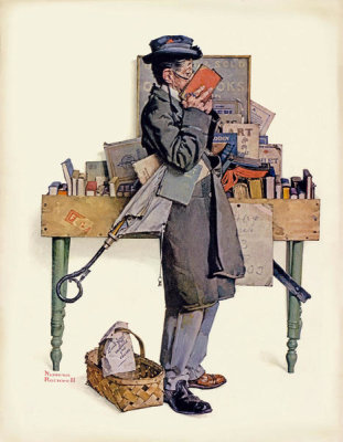 Norman Rockwell - Bookworm, 1926
