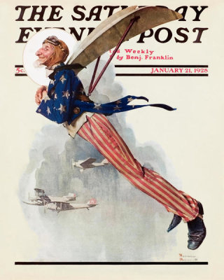 Norman Rockwell - Flying Uncle Sam, 1928