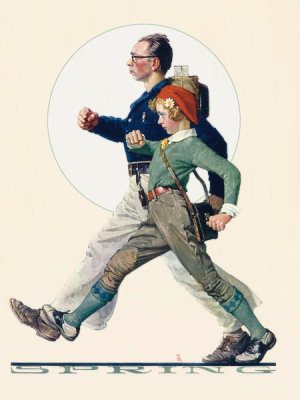 Norman Rockwell - Hikers, 1928