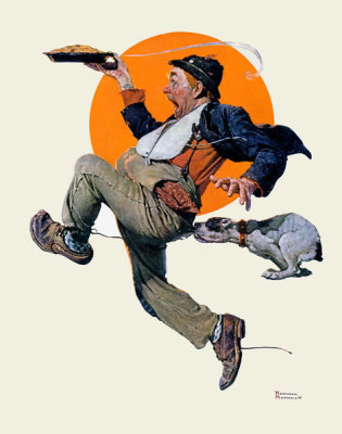 Norman Rockwell - Fleeing Hobo, 1928