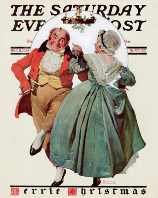 Norman Rockwell - Christmas Dance, 1928