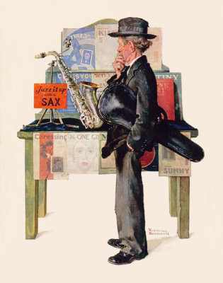 Norman Rockwell - Saxophone / Jazz it Up, 1929