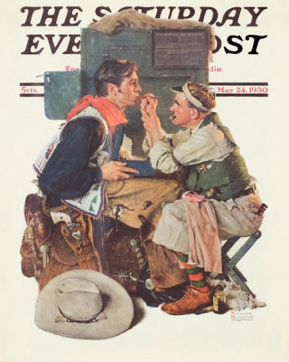 Norman Rockwell - Gary Cooper (The Texan), 1930