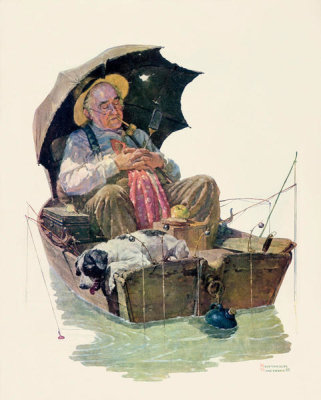 Norman Rockwell - Gone Fishing, 1930