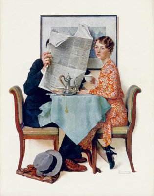 Norman Rockwell - Breakfast Table, 1930