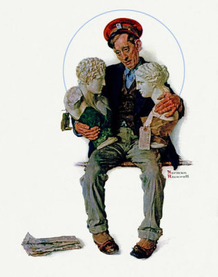 Norman Rockwell - Delivering Two Busts, 1931
