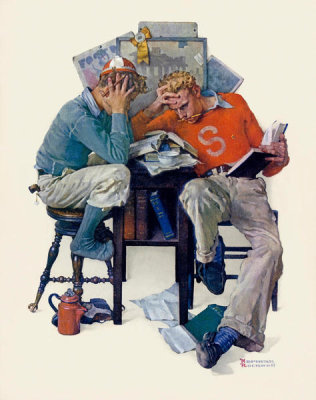 Norman Rockwell - Cramming, 1931