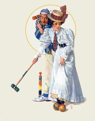 Norman Rockwell - Croquet, 1931
