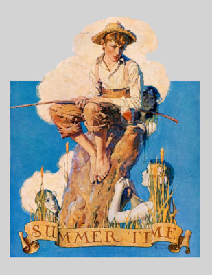 Norman Rockwell - Summertime (Boy Fishing)