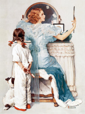 Norman Rockwell - Going Out