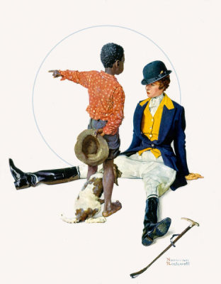 Norman Rockwell - Thrown from a Horse, 1934