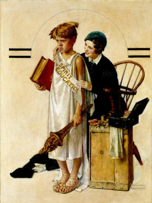 Norman Rockwell - Spirit of Education, 1934