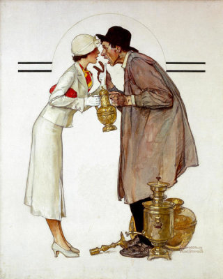Norman Rockwell - Antique Dealer (Brass Merchant), 1934