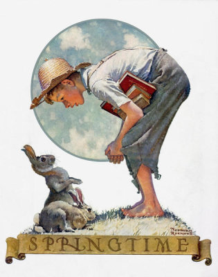 Norman Rockwell - Springtime 1935 (Boy with Rabbit)