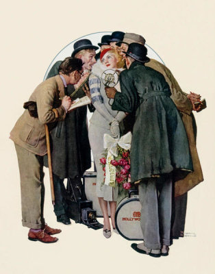 Norman Rockwell - Hollywood Starlet