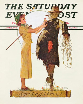 Norman Rockwell - Springtime 1936 (Woman with Scarecrow)