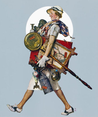 Norman Rockwell - Antique Hunter, 1937
