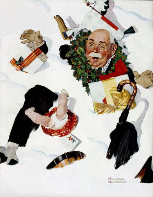 Norman Rockwell - White Christmas, 1937