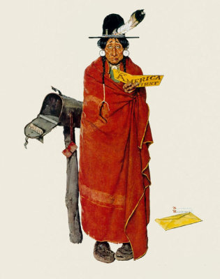 Norman Rockwell - See America First (Indian at Mailbox), 1938